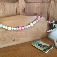Wood Bead Garland for nursery or playroom