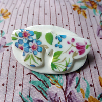 Porcelain butterfly brooch