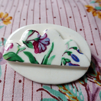 Porcelain cloud brooch