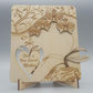Beautiful Orchid Wooden Card for Mother's day