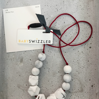 Arctic Fox Baby Swizzler Teething Necklace