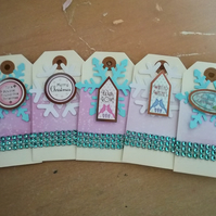 Pastel Christmas Gift tags