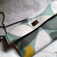 Fabric Print Shoulder Strap bag
