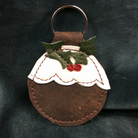 Leather Christmas Keyfobs