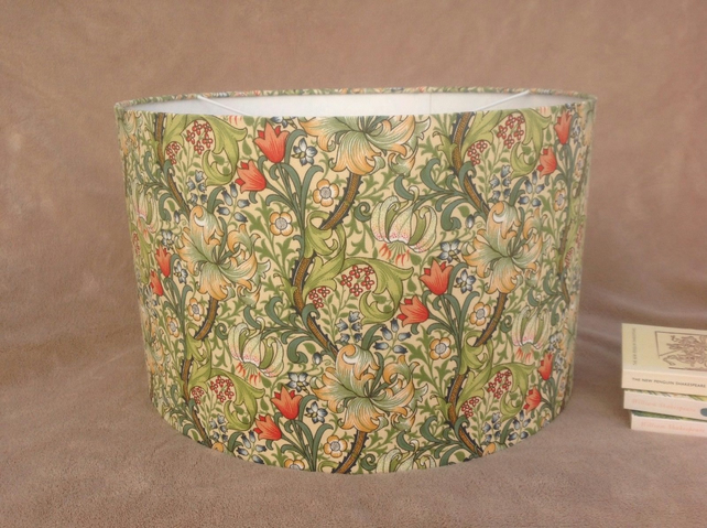 William Morris Golden Lily Lampshade 30cm for a floor or table lamp