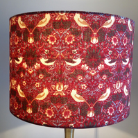 William Morris Strawberry Thief Fabric Lampshade 30cm for a table or floor lamp