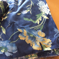 Sanderson remnants  blue floral off cuts good quality fabric