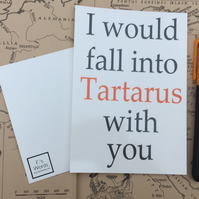 I Would Fall into Tartarus With You Print Greek Mythology Valentine's Gift
