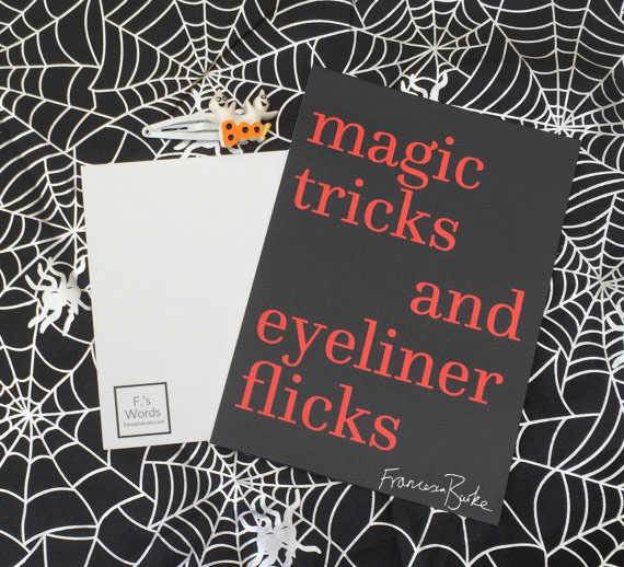 Magic Tricker and Eyeliner Flicks Halloween Party Decor, Witches, Friendship