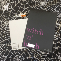 Witch 'n' B---h A6 Print, Halloween, Pastel Goth, Witches, Girl Gang, Wicca