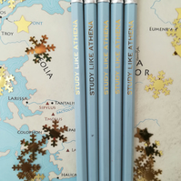 Study Like Athena Graphite Pencils, Greek Mythology, Back to School Student Gift