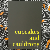Cupcakes and Cauldrons Halloween Party Decor for Feminist, Art Print, Witches