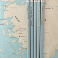 30x Study Like Athena Pencils, Greek Mythology, Teacher School Supplies