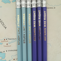 Athena and Athena HB Pencils Greek Mythology, Friendship Gift,School Supplies
