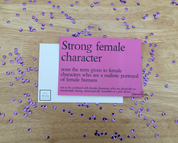 Strong Female Character Definition Sarcastic Bookworm Bookish Print