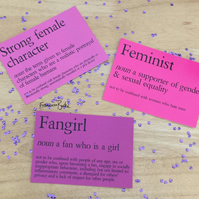 Mini Feminism Survival Kit, Fangirl, Feminist, Strong Female Character Print