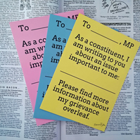 Postcard to Your MP, 6 Postcards, Write to Your MP, Political Participation