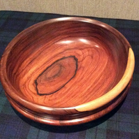 Turned bowl made from cocobolo