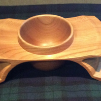 Woodturned ornamental dish