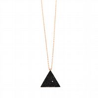 Triangle Black Turquoise Necklace