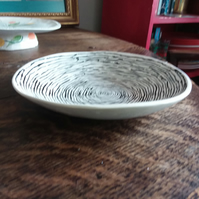 Lovely black and white bowl