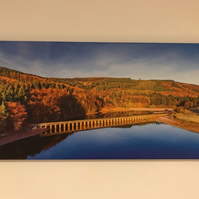 Peak District Howden Dam Aerial Canvas 30cmx60cm large wall art