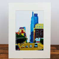 West 34th st - New York. A limited edition print by Bryan John