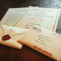 Personalised Letter & Nice List Certificate from Santa in Wax Sealed Envelope