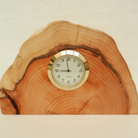 Clock in Scottish Yew with Thermometer