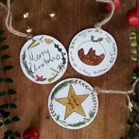 Christmas gift tags pack of 5 (Christmas gift labels)