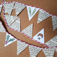 Christmas paper bunting (seasonal decoration)