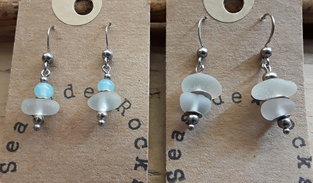 Pretty Seaglass Earrings