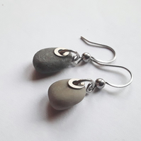 Grey Pebble Earrings