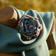 Winter Funky Flower Corsage