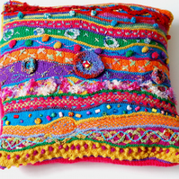 Happy Days Crazy Colourful Cushion