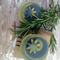 Rosemary & Patchouli, Olive & Hempseed Oil Soap, Vegan Palm & SL Free