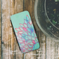 blue iphone wallet case, blue iphone case, modern iphone case, abstract, blue