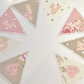 Named Handcrafted Personalised Bunting in Clarke & Clarke fabric, Price per flag