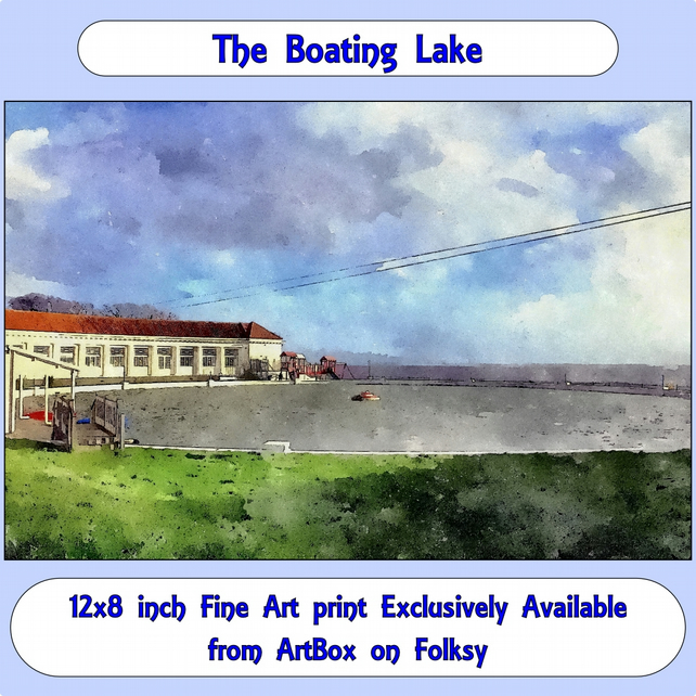 The Boating Lake  - 12x8 inch (approx. A4) Fine Art Print