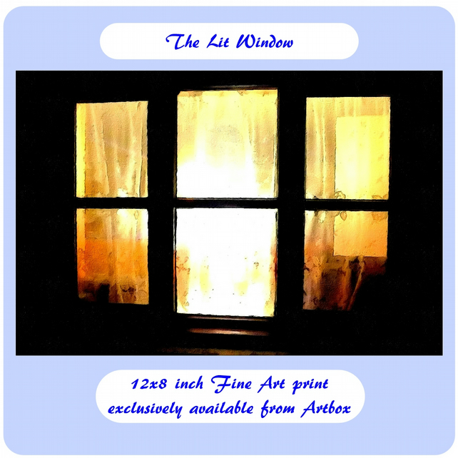 The Lit Window - 12x8 inch Fine Art Print