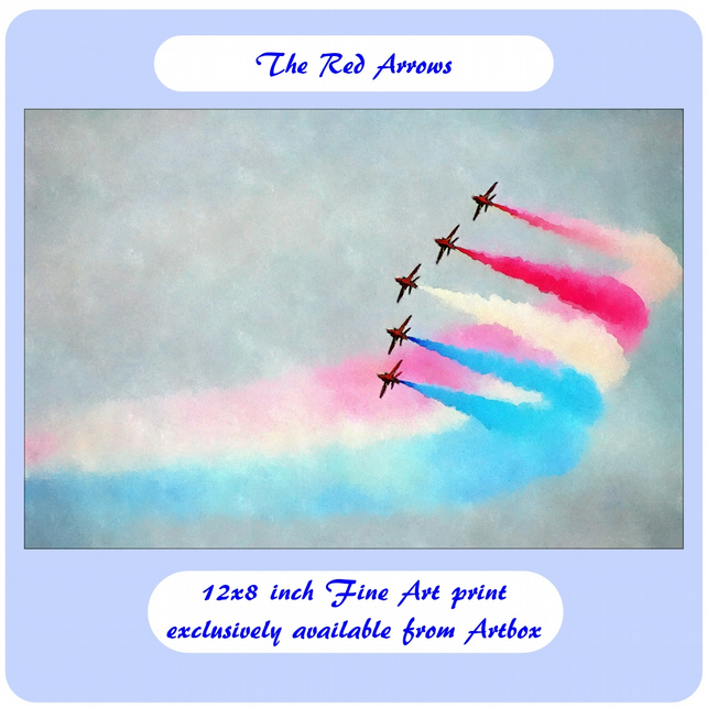 The Red Arrows - 12x8 inch Fine Art Print