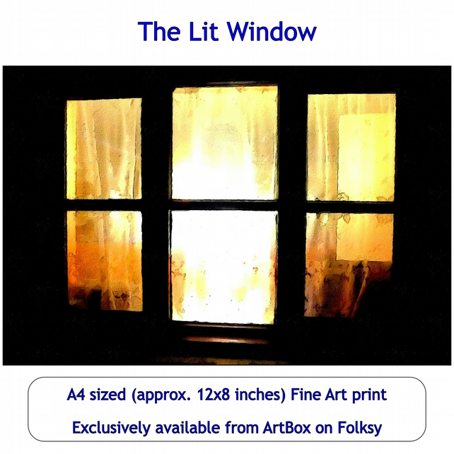 The Lit Window - Quality Fine Art Print