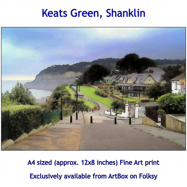 Keats Green, Shanklin - Quality Fine Art Print, Exclusively available from here