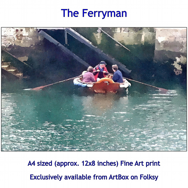The Ferryman - Quality Fine Art Print, exclusively available from this store