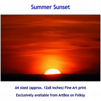 Summer Sunset - Quality Fine Art Print, exclusive from this store