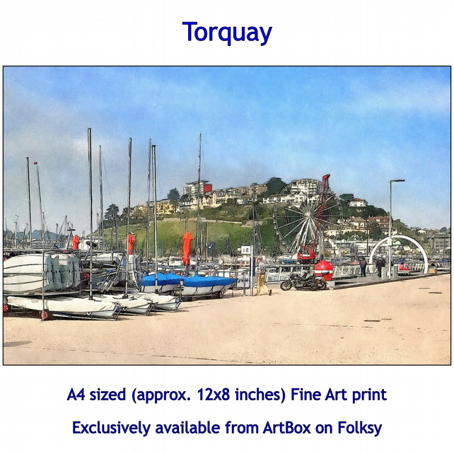Torquay - Fine Art print, Exclusively Available from this store
