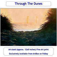 View Through The Dunes, Great Yarmouth - 12x8 inch (approx. A4) Fine Art Print