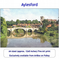 Aylesford And The River Medway Quality Fine Art Print