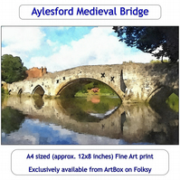 The Medieval Bridge At Aylesford - Quality Fine Art Print