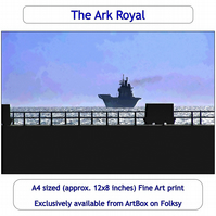 The Ark Royal - Quality Fine Art Print,  Aircraft carrier, Ship